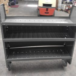 Front of the Shelf unit, displaying the 3 shelves