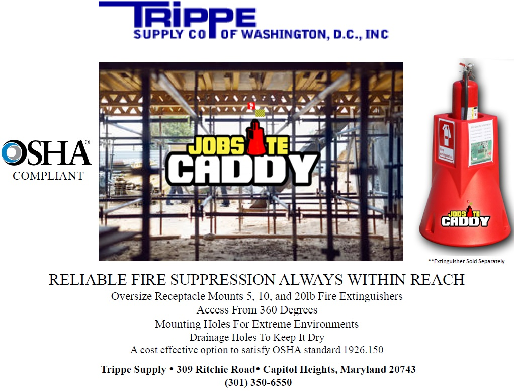 Jobsite Caddy available at Trippe Supply!